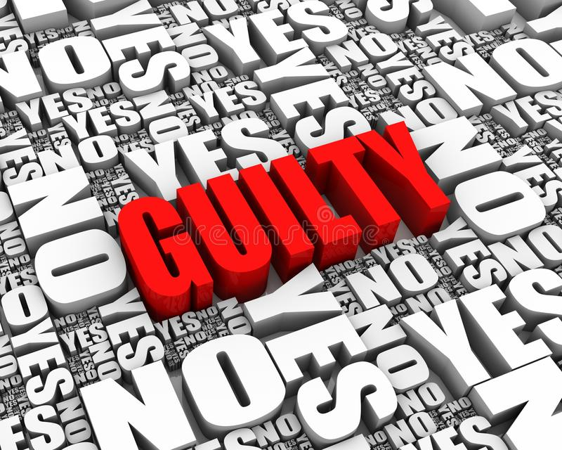 Download Guilty stock illustration. Image of decisions, text, image - 22353439