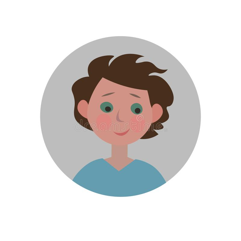 Guilty emoticon. Sorry expression icon. stock illustration