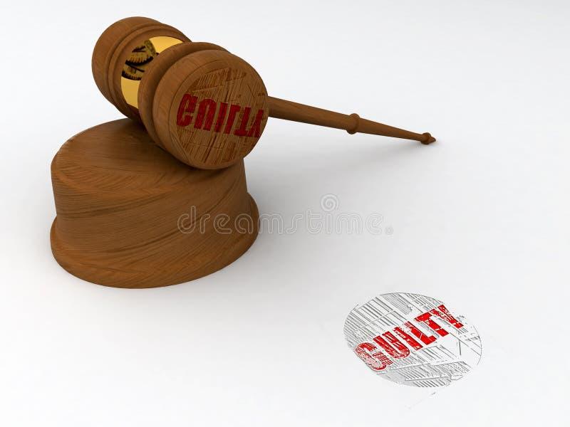 Download Guilty stamp stock illustration. Illustration of judge - 14212522