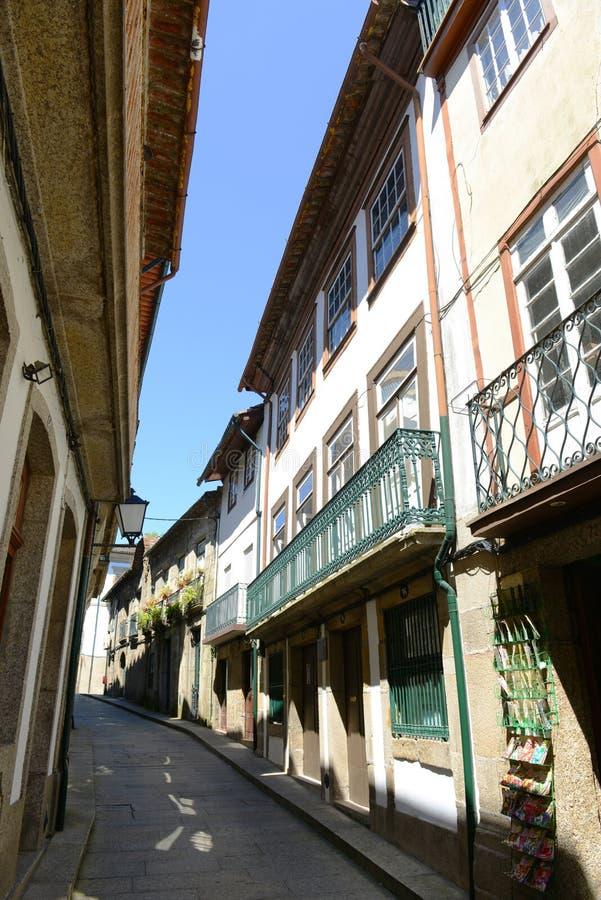 Guimarães Historisch Centrum, Portugal stock afbeeldingen