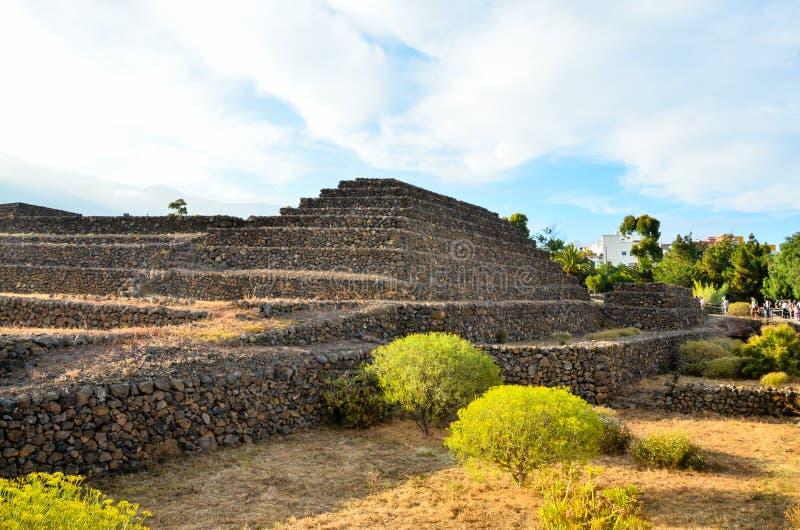 Guimar金字塔 免版税图库摄影
