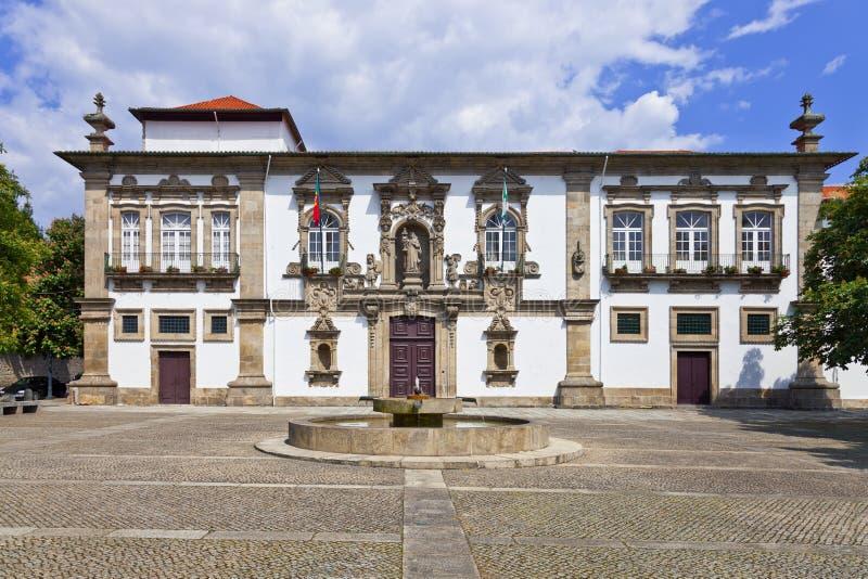 Guimaraes City-Hall, Santa Clara nunnery. Guimaraes City-Hall in the former Santa Clara nunnery building. Guimaraes, Portugal. Unesco World Heritage site stock image