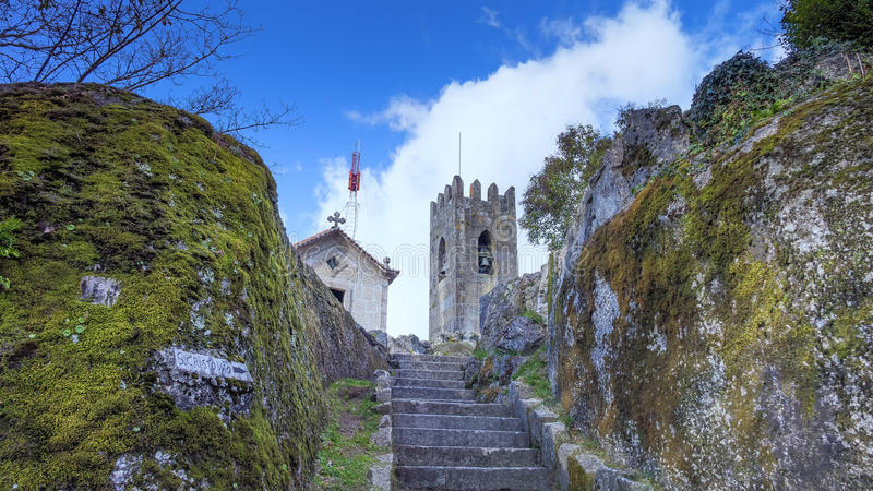 GUIMARAES, PORTUGAL - Architecture of the Toural square of Historic Centre of Guimaraes, Portugal. UNESCO World Heritage royalty free stock images