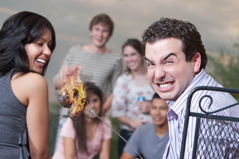 Guimauves brûlées photographie stock libre de droits