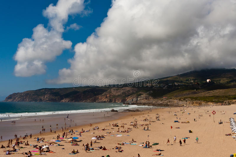 guincho Португалия пляжа известное стоковые изображения rf