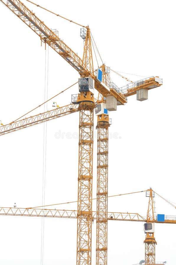 guindaste de construção no fundo branco imagem de stock