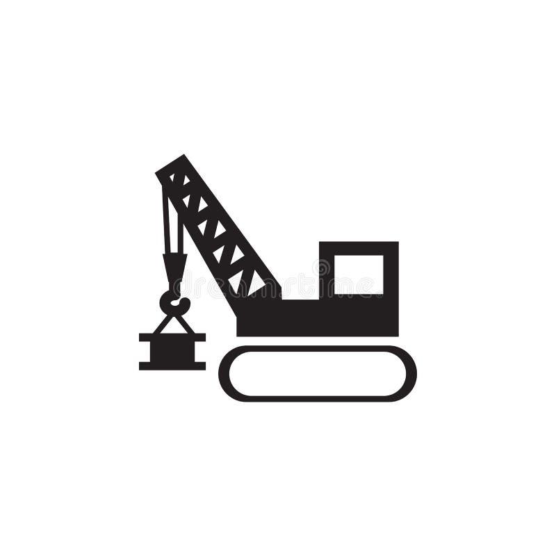 Guindaste de levantamento Ícone dos elevadores da torre e do porto Os elementos da construção utilizam ferramentas o ícone Projet ilustração royalty free