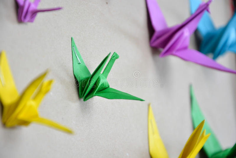 Guindaste de Origami fotos de stock royalty free