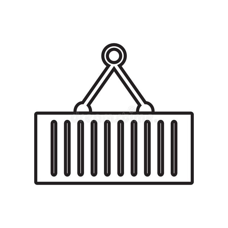 Guindaste que guarda o ?cone do recipiente Elemento de ferramentas de Constraction para o conceito e o ?cone m?veis dos apps da W ilustração do vetor