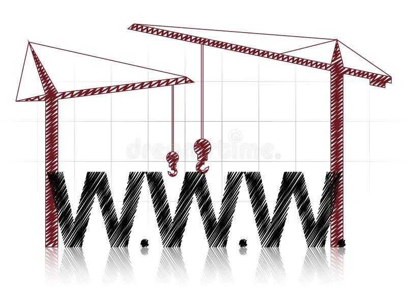 Guindastes de WWW ilustração stock