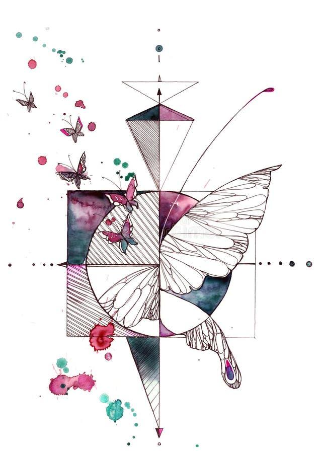 Guindineau abstrait illustration de vecteur