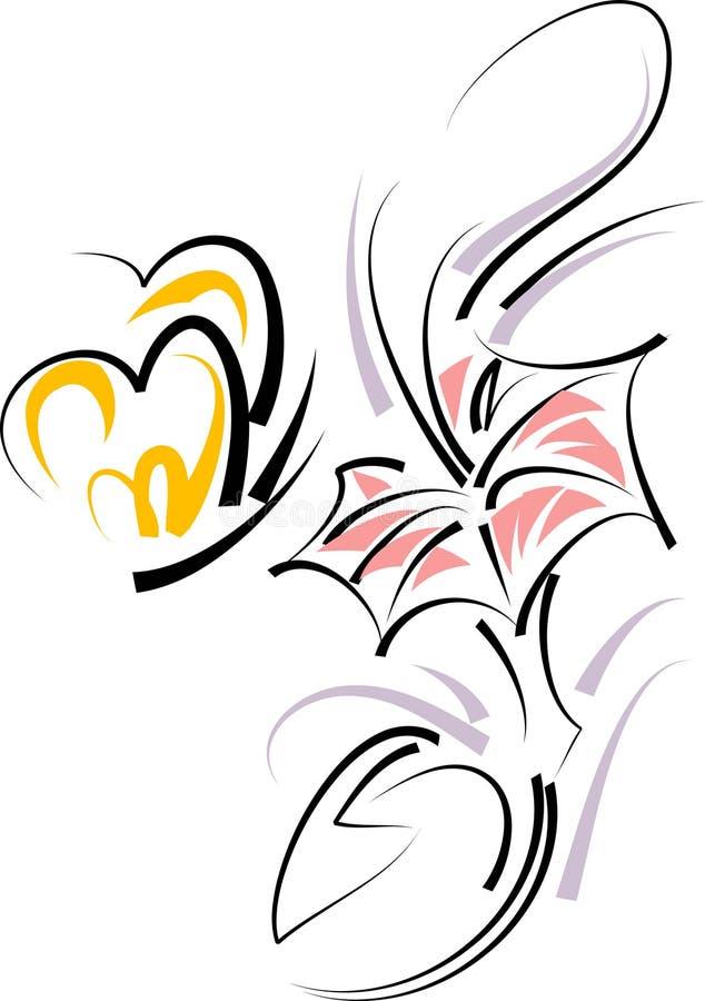 Guindineau et fleur illustration de vecteur