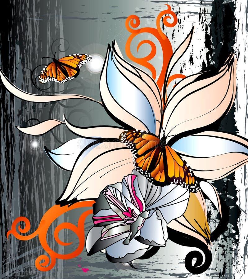 Guindineau et fleur illustration libre de droits