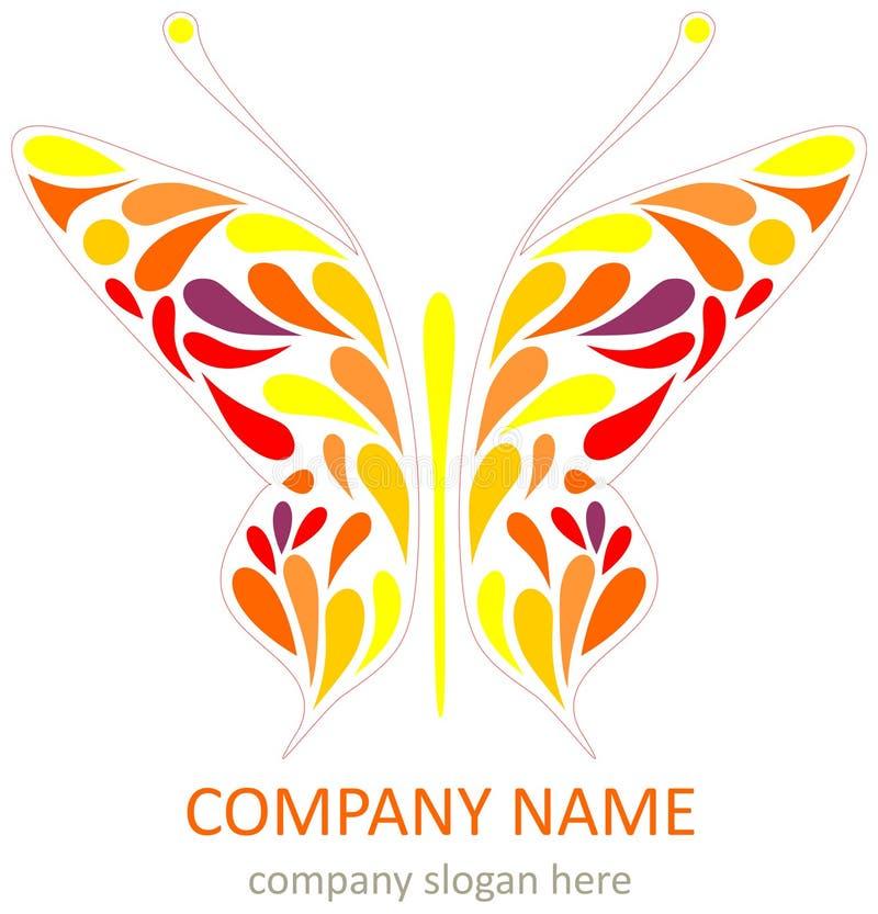 Papillon - logotype illustration de vecteur