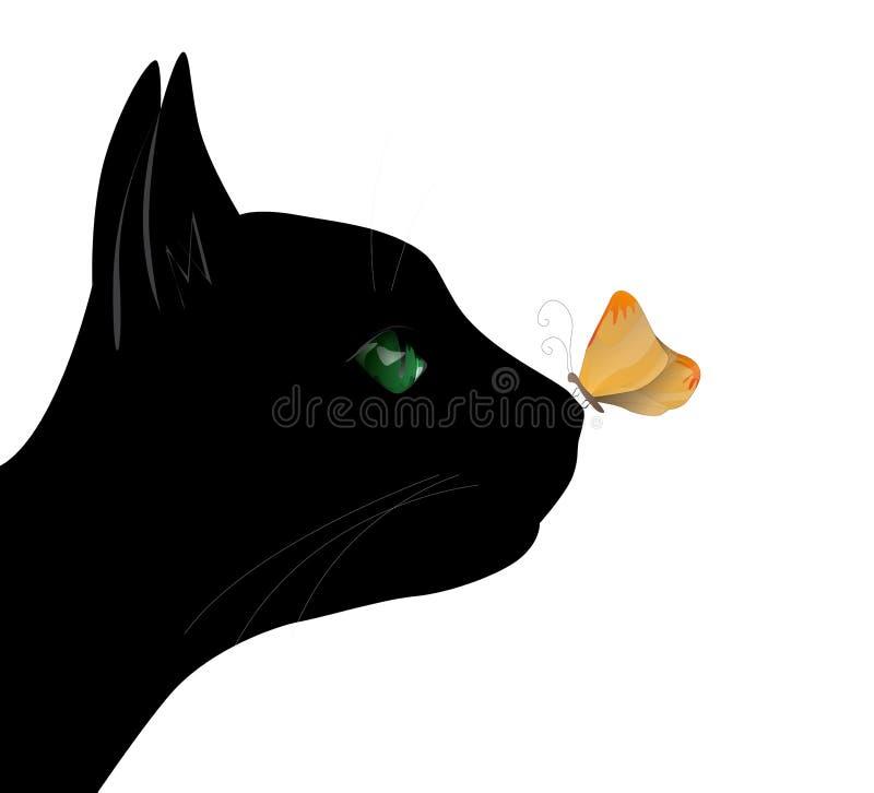 Guindineau sur le nez de chat illustration libre de droits