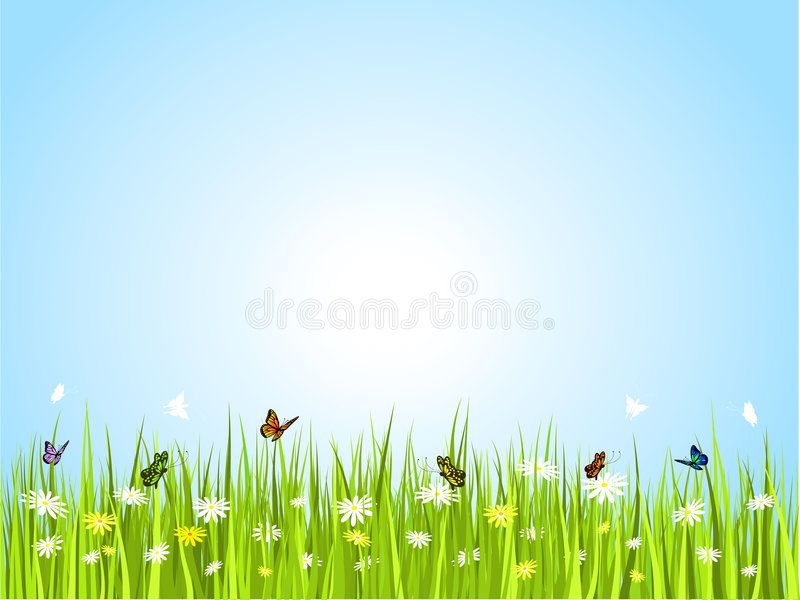 Guindineaux dans l'herbe illustration libre de droits