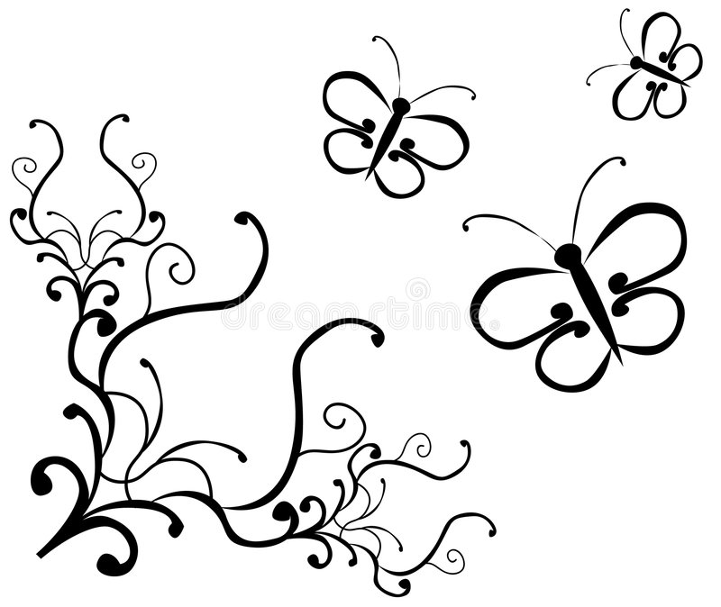 Guindineaux et ornement illustration stock