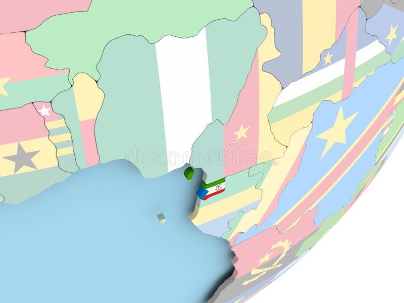 Guinea Ecuatorial con la bandera ilustración del vector