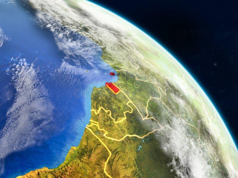 Guinea Ecuatorial del espacio stock de ilustración