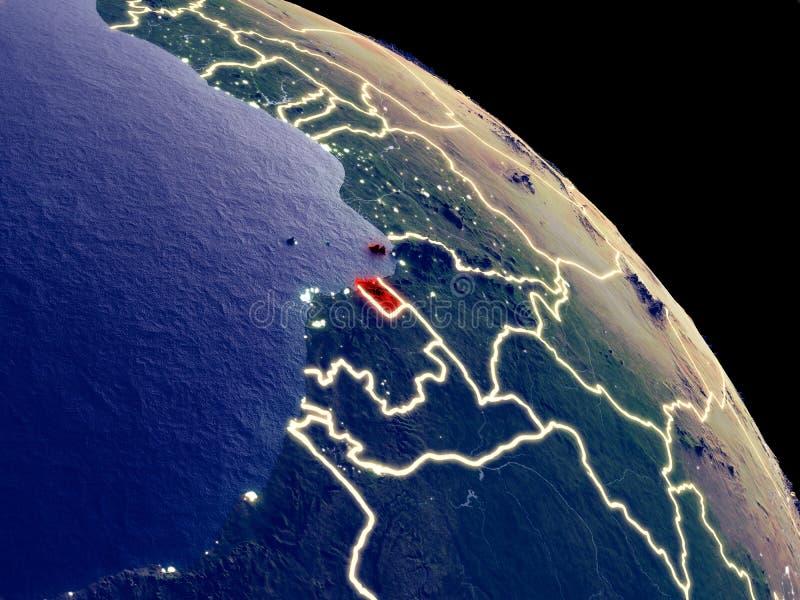 Guinea Ecuatorial del espacio libre illustration
