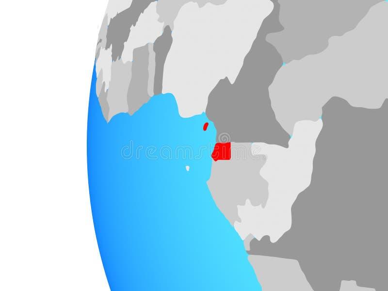 Guinea Ecuatorial en el globo ilustración del vector