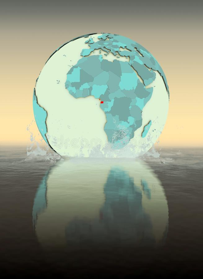 Guinea Ecuatorial en el globo que salpica en agua libre illustration