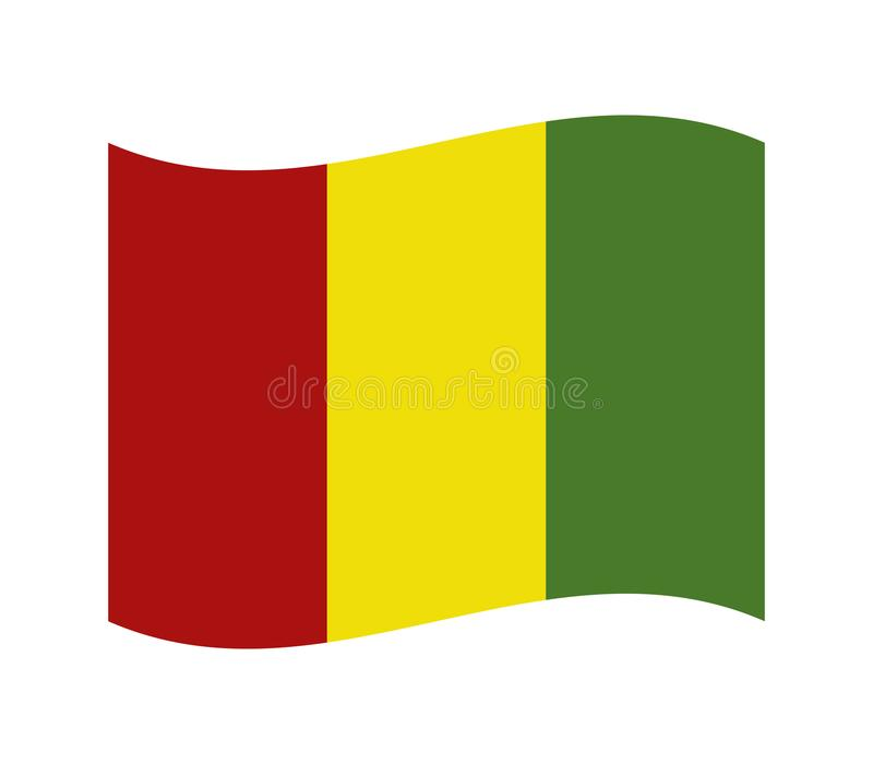 Guinea flagga stock illustrationer