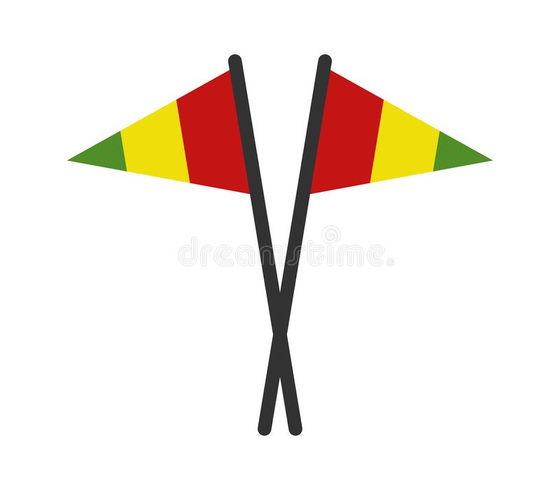 Guinea flagga vektor illustrationer