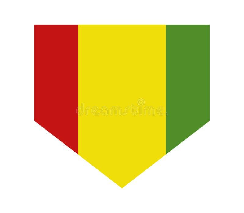Guinea flagga royaltyfri illustrationer