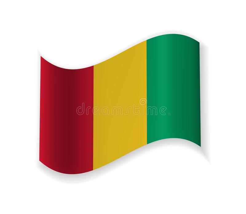 Guinea flagga stock illustrationer