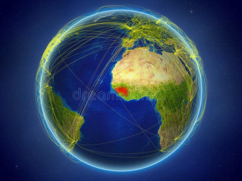 Guinea ter wereld met netwerken royalty-vrije stock fotografie