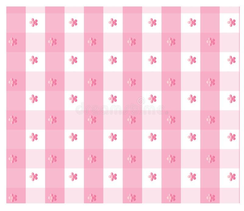 Guingão cor-de-rosa ilustração stock