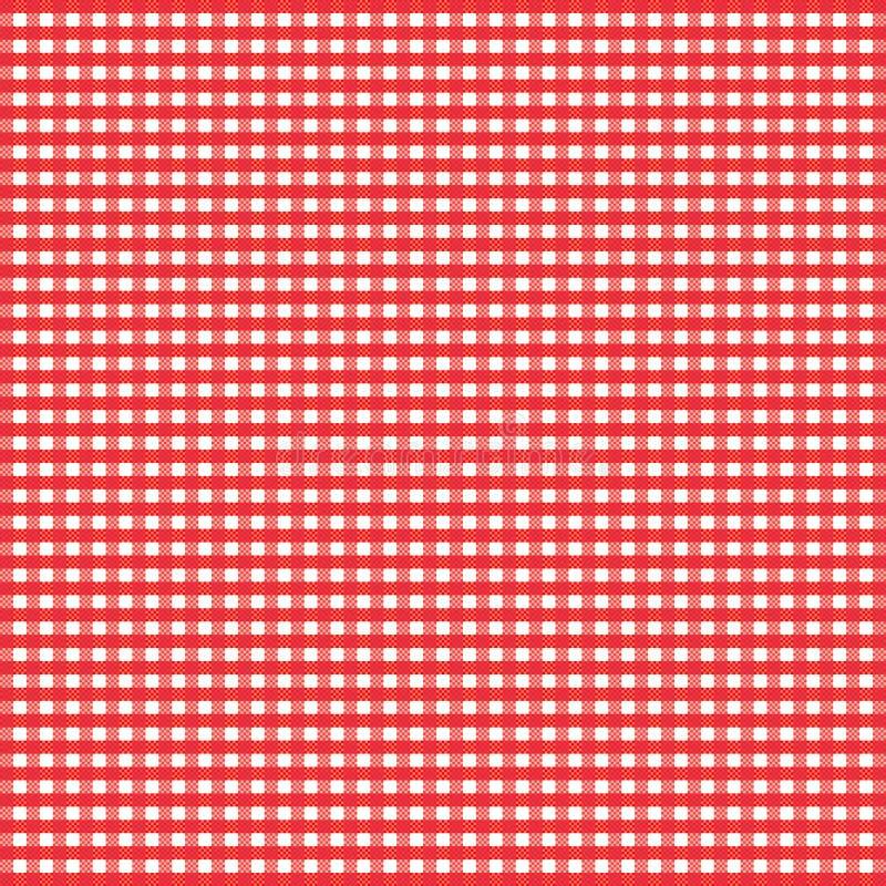 Guingão vermelho ilustração stock