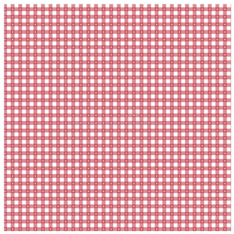 Guingão vermelho com teste padrão de estrela ilustração stock