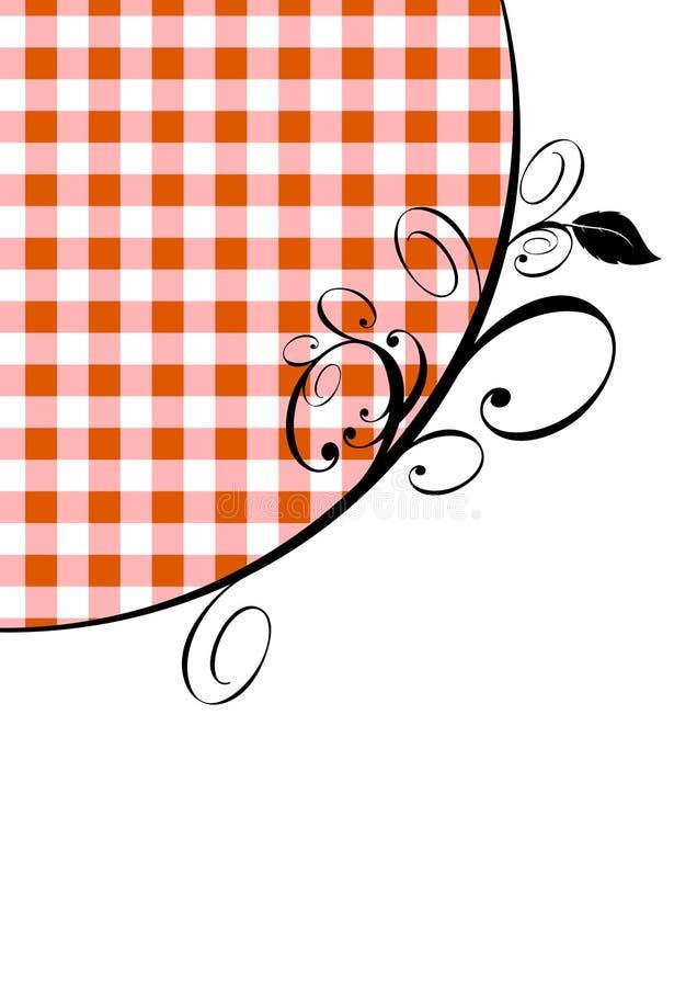 Guingão vermelho e projeto ilustração stock