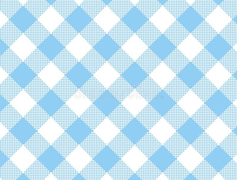 Guingan bleu tissé par vecteur illustration libre de droits