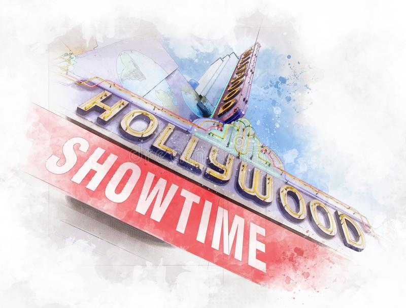 Guinness światowi rekordy Muzealni na Hollywood bulwarze, Los Angeles - usa ilustracji