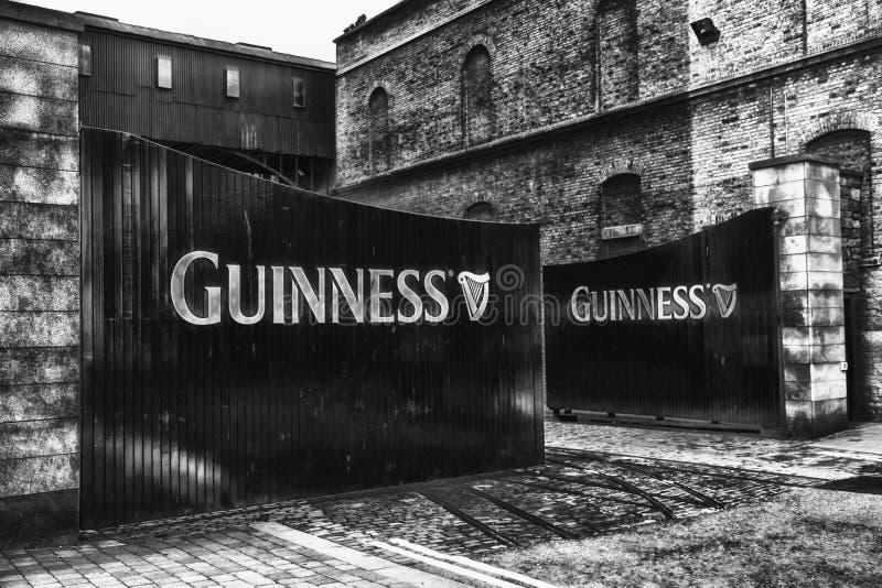 Guinness bloquea B&W foto de archivo