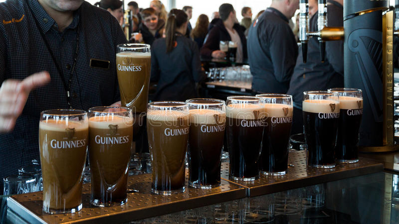 Guinness-Brauerei Dublin Ireland stockbilder