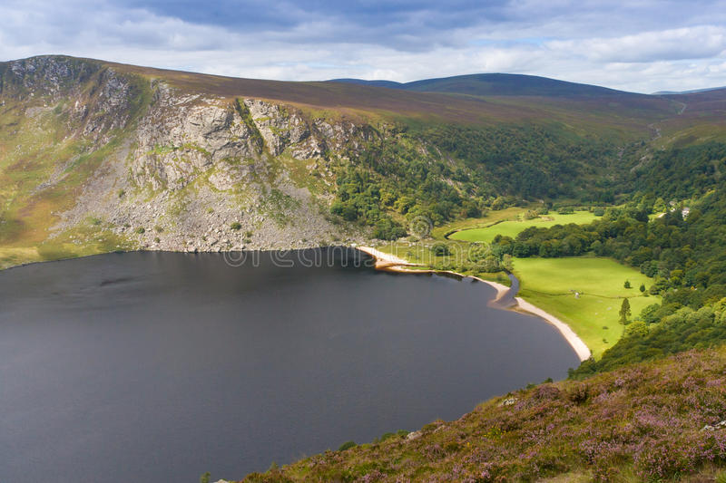 Guinness Lake in Wicklow Mountains, Ireland.  royalty free stock photography