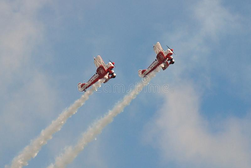 Download Guinot Wing Walking team editorial photography. Image of smoke - 12475332
