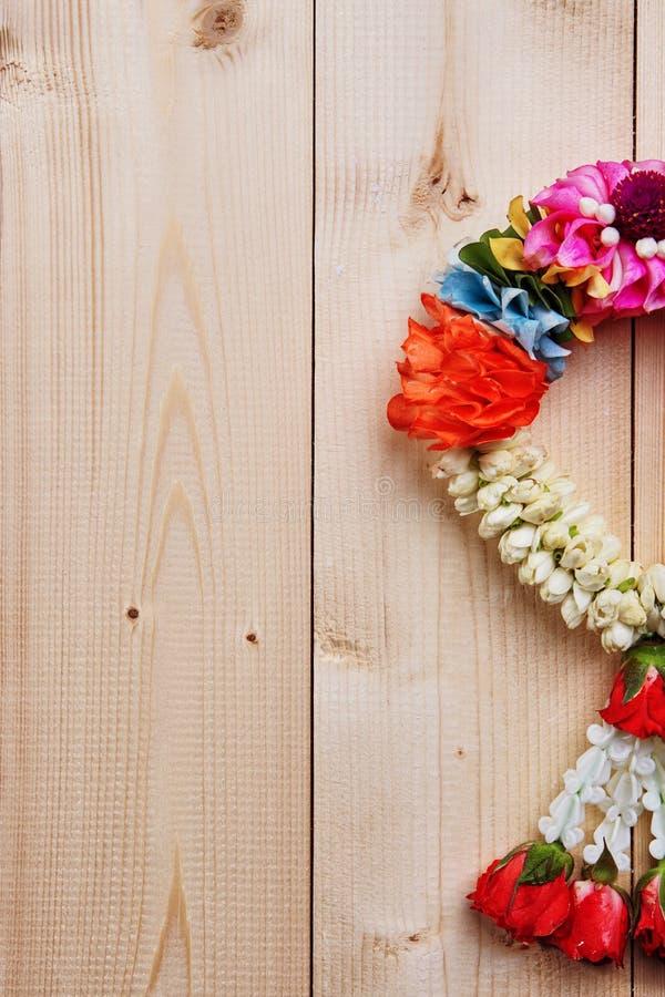 Guirlande blanche de jasmin photographie stock