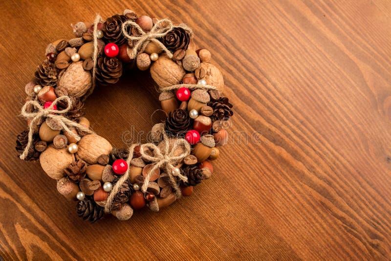 Guirlande décorative d'automne photographie stock
