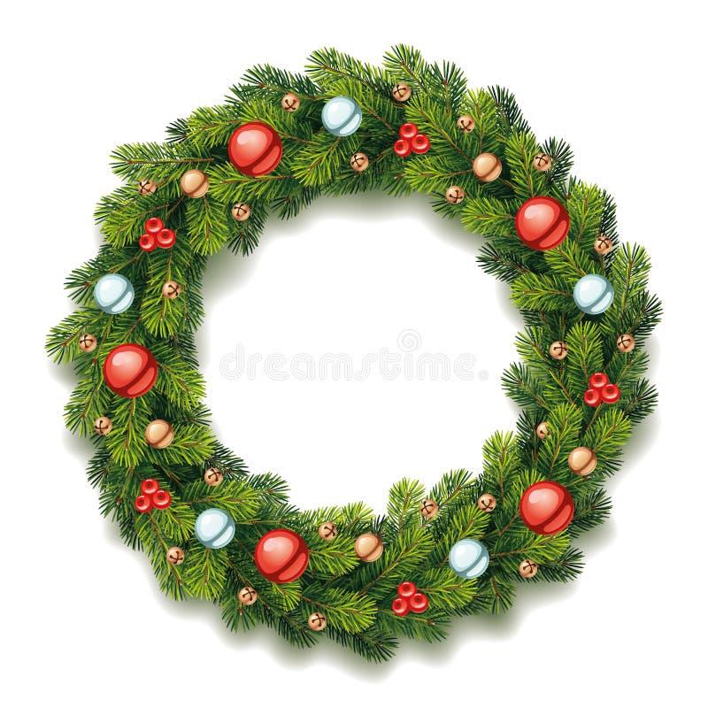 Guirlande détaillée de Noël illustration libre de droits