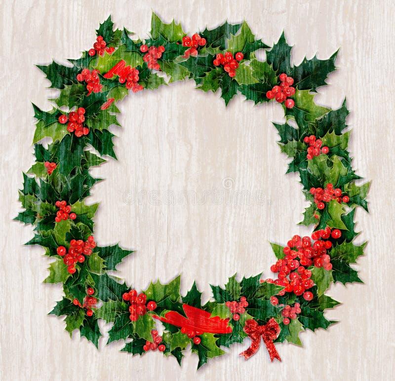 Guirlande de bois de flottage de Noël illustration libre de droits