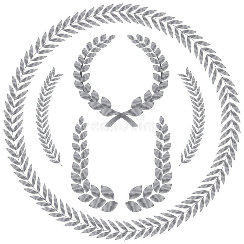 Guirlande de laurier illustration de vecteur