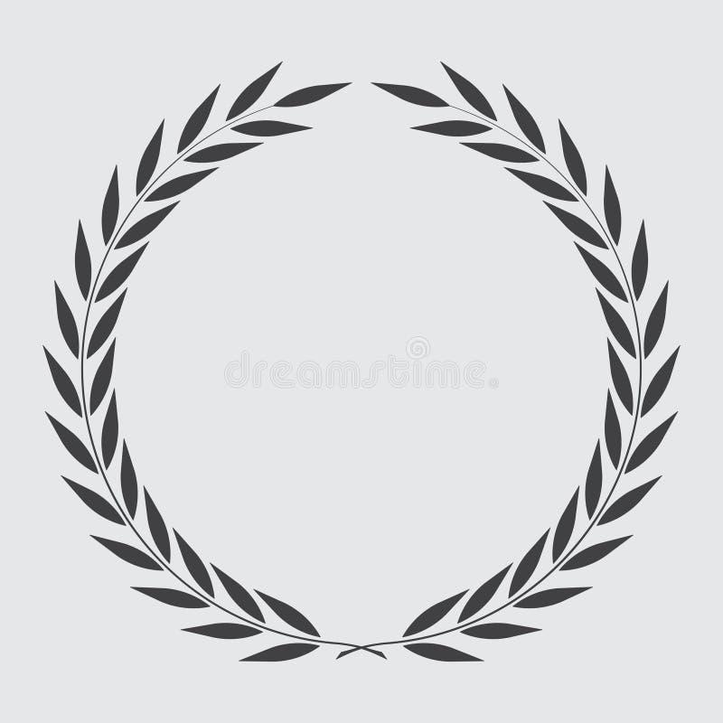 Guirlande de laurier d'ic?ne, conception de spotrs - illustration de vecteur images stock