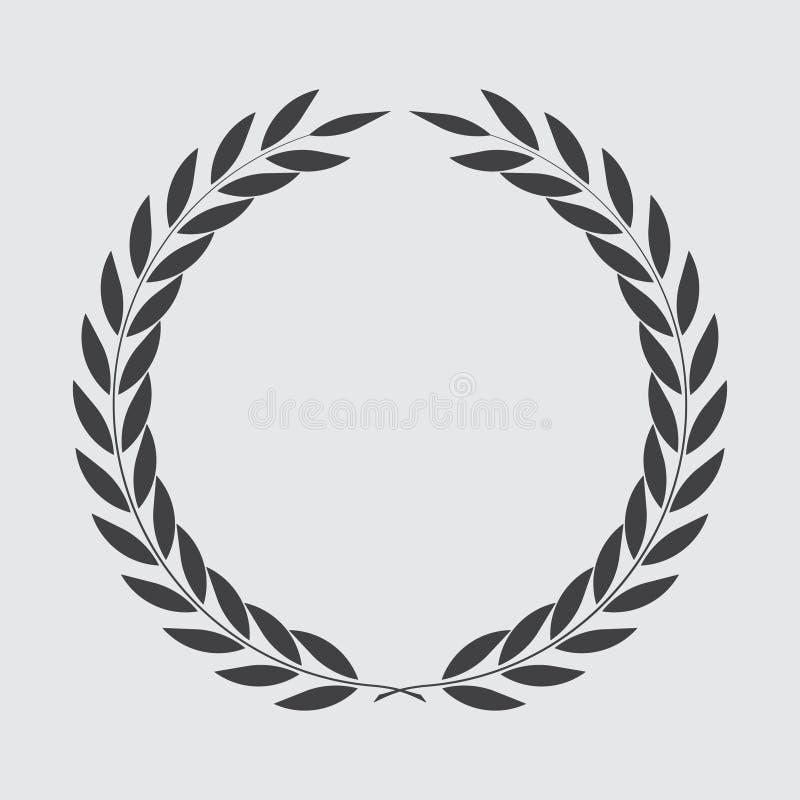 Guirlande de laurier d'ic?ne, conception de spotrs - illustration de vecteur photos stock