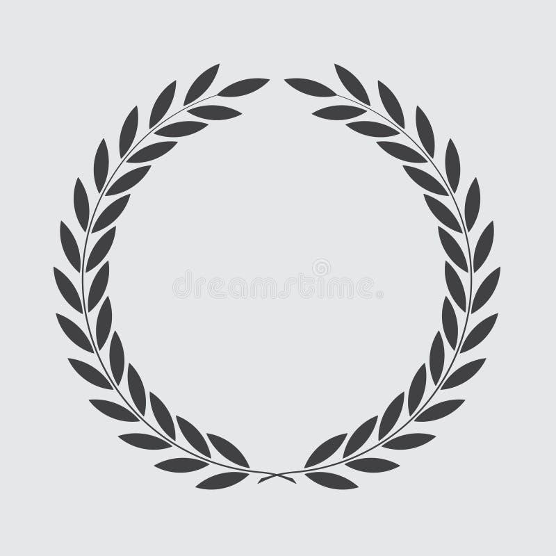 Guirlande de laurier d'ic?ne, conception de spotrs - illustration de vecteur photographie stock libre de droits