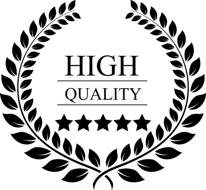 Guirlande de laurier pour la récompense de qualité illustration libre de droits